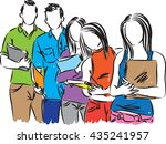 group of students illustration   Shutterstock .eps vector #435241957