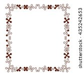 decorative geometric borders or ... | Shutterstock .eps vector #435242653