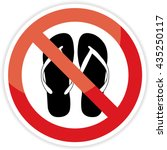 no sandals  no shoes sign on... | Shutterstock . vector #435250117