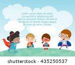 superhero kids at playground  ... | Shutterstock .eps vector #435250537