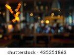 blur dark bar or cafe at night  | Shutterstock . vector #435251863