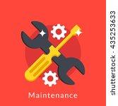 illustration of maintenance of... | Shutterstock .eps vector #435253633