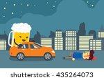 man injured and senseless after ...   Shutterstock .eps vector #435264073