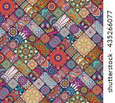 seamless pattern. vintage... | Shutterstock .eps vector #435266077