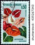 france   circa 1973  a stamp... | Shutterstock . vector #435267343