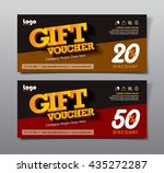 discount voucher template with... | Shutterstock .eps vector #435272287