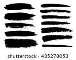 set of black paint  ink brush... | Shutterstock .eps vector #435278053