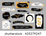 vector quote boxes collection.... | Shutterstock .eps vector #435279247