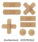 band aids | Shutterstock . vector #435290263