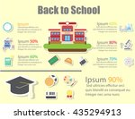 icons for education back to... | Shutterstock .eps vector #435294913