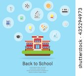 set icons for education back to ... | Shutterstock .eps vector #435294973