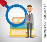 education design. university... | Shutterstock .eps vector #435301447