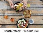 take away  food in plasmasovy... | Shutterstock . vector #435305653