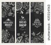 bakery background. linear... | Shutterstock .eps vector #435314563