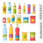 fast food snacks and drinks... | Shutterstock .eps vector #435315517