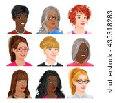 different female avatars.... | Shutterstock .eps vector #435318283