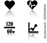 heart rate icons | Shutterstock .eps vector #435320443