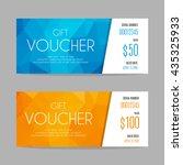 gift voucher template | Shutterstock .eps vector #435325933