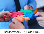 group of business people... | Shutterstock . vector #435354403
