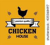 grill house. vintage logo... | Shutterstock .eps vector #435368497