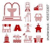 public city icon set | Shutterstock .eps vector #435372307