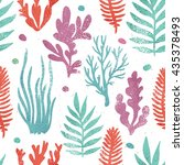 marine plants background.... | Shutterstock .eps vector #435378493