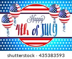 4th of july. fourth of july... | Shutterstock .eps vector #435383593