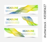 set of banners. three color... | Shutterstock .eps vector #435385627