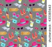 seamless vector pattern. the... | Shutterstock .eps vector #435385663