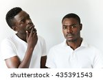 two african men in casual wear... | Shutterstock . vector #435391543