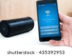 using nfc application on... | Shutterstock . vector #435392953
