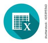 excel icon | Shutterstock .eps vector #435395563