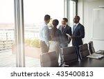 diverse multiracial management... | Shutterstock . vector #435400813