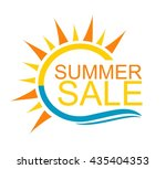 summer sale   modern design | Shutterstock .eps vector #435404353