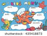 kids menu template. funny... | Shutterstock .eps vector #435418873
