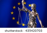 themis with scale  symbol of... | Shutterstock . vector #435420703