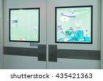 operating room doors | Shutterstock . vector #435421363