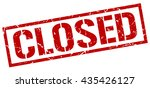 closed stamp.stamp.sign.closed. | Shutterstock .eps vector #435426127