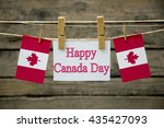 Small photo of Happy Canada day greeting card or background.