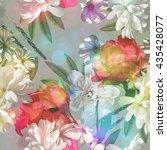 art vintage colored blurred...   Shutterstock . vector #435428077