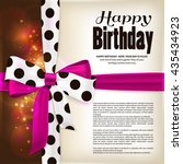 happy birthday greeting card.... | Shutterstock .eps vector #435434923