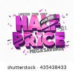 half price sale concept vector... | Shutterstock .eps vector #435438433