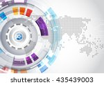 vector digital global... | Shutterstock .eps vector #435439003