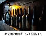 bottles with the old georgian... | Shutterstock . vector #435450967