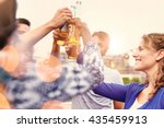 multi ethnic millenial group of ... | Shutterstock . vector #435459913