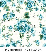 Wallpaper Seamless Vintage Blu...