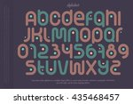 set of sport style alphabet... | Shutterstock .eps vector #435468457