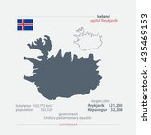 republic of iceland isolated... | Shutterstock .eps vector #435469153