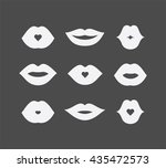 women lips and mouth flat style ... | Shutterstock .eps vector #435472573