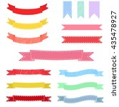 set of colorful hand drawn... | Shutterstock .eps vector #435478927